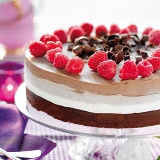 chokladtårta med vit choklad