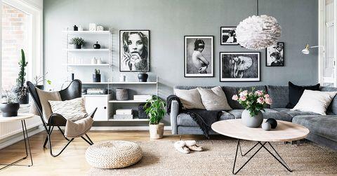 vit och grå inredning